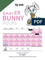 Easter bunny hours at Destiny USA