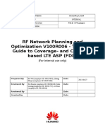 RF Network Planning and Optimization Service V100R006 LTE ASP Coverage and Capacity Site Planning Technical Guide (FDD)