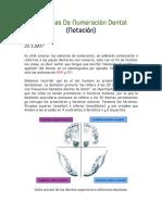 SISTEMA DE NUMERACION DENTAL - ODONTOLOGIA