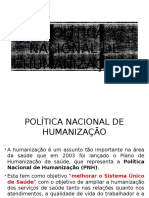 Diretrizes e Bases de Humanização - Aula 2