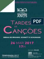 Programa de Sala   Tardes de Canções  26/03/17