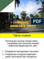 Metode Swot Dalam Kajian Lingkungan