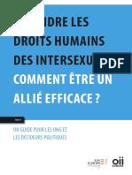 Défendre les droits humains des intersexués - comment être un allié efficace ?