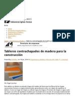 Tableros Contrachapados de Madera Para La Construcción _ Publicaciones Digitales Técnicas