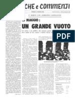 Cronache e Commenti Apr._mag. 1980