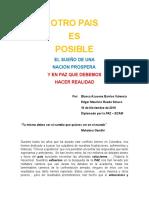 Diplomado Por La Paz - Ensayo - Otro Pais Es Posible