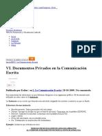 Documentos Privados en La Comunicación Escrita