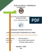 Sistemas Constructivos No Convencionales Vigentes en El Peru