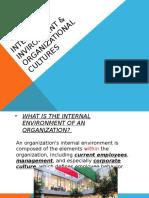 Internal Invironment of an Organization,