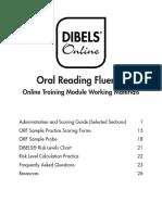 oral comprehension dibels