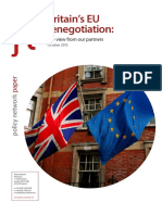 Britain s EU Renegotiation the View From Our Partners
