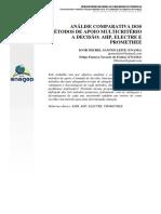 Análise Comparativa Dos Métodos de Apoio Multicritério a Decisão_ Ahp, Electre e Promethee