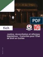 Justice, réconciliation et réformes législatives