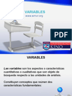 Presentación Sobre Variables