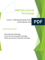 Lecture 1 Defining Educational Technology