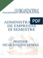 Nichols Osacar Augusto - Administracion de Empresas - Desarrollo Organizacional