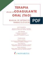 Terapia Anticoagulante Manual de Interacciones Farmacológicas Hospital Santa Creu i Sant Pau 2002
