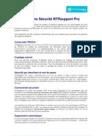 IRL - NTRsupportPro - Spécifications Sécurité