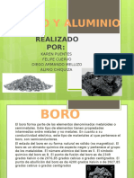 Boro y Aluminio