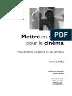 Mettre en Scène Pour Le Cinéma - Mouvements d'Acteurs Et de Caméras