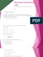 Persamaan Diferensial Tidak Eksak (Faktor Integral)