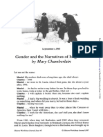 [Chamberlain, 1997] Gender and Narratives of Migration