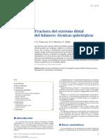 2014 Fractura Del Extremo Distal Del Húmero, Técnicas Quirúrgicas