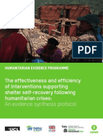 The Effectiveness and Efficiency of Interventions Supporting Shelter Self-Recovery Following Humanitarian Crises