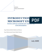 Introduction to Microsoft Excel With Applications in Chemical Engineering - Final Notes%2C 2nd Ed.