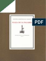 Santos Domínguez.  Plaza de la palabra (Antología 1994-2010)