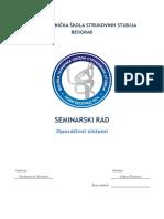 Seminarski Operativni Sistemi - A Z