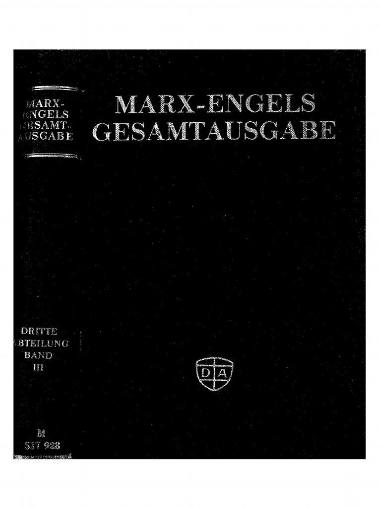 Megac2b9 III 3 Der Briefwechsel Zwischen Marx Und Engels 1861e280941867