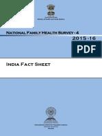 India Nfhs 2015 Fact Sheet