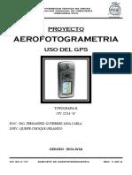 PROYECTO DE AEROFOTOGRAMETRIA