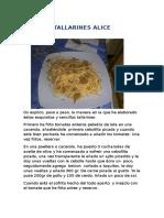 ALICE 1 (Tallarines)