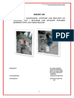 KAP Report on Child and maternal health