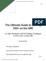 Tips for Scoring 330+ on the GRE - CrunchPrep GRE