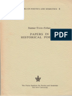 Even-Zohar 1978 Papers in Historical Poetics