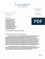SP Letter to Delegation on NIH Funding
