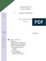 1 Laplace Transforms - Notes.pdf