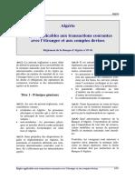 Algerie Reglement 2007 01 Transactions Courantes