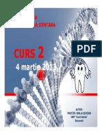 Genetica Md - Curs 2 4 Martie 2013