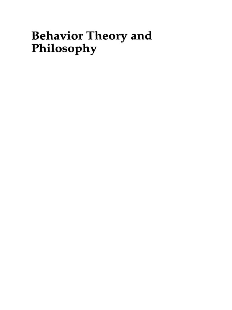 Lattal k a chase p n eds behavior theory and philosophy lattal k a chase p n eds behavior theory and philosophy causality behaviorism malvernweather Images