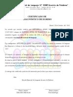 Certificado Alta- Antonella Calabrano