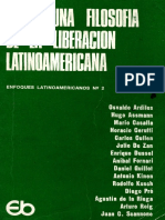 Hacia Una Filosofia de La Liberacion Latinoamericana