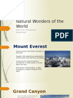 powerpoint exercise wonders of the world