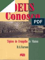 D. a. Carson - Deus Conosco - Mateus