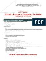 Job Announcement - Executive Director of ELEMENTARY EDUCATION