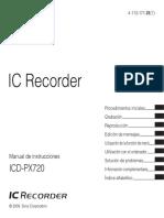 Grabadora Mini ICDPX720_ES