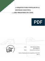 TFG_Rubio Madro§Al, Esther. El Papel de La Arquitectura Popular en La Identidad Colectiva. Torres Miradores en C†Diz